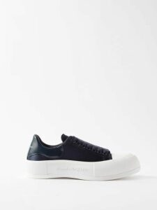 Alexachung - Double Breasted Cotton Blend Blazer - Womens - Cream
