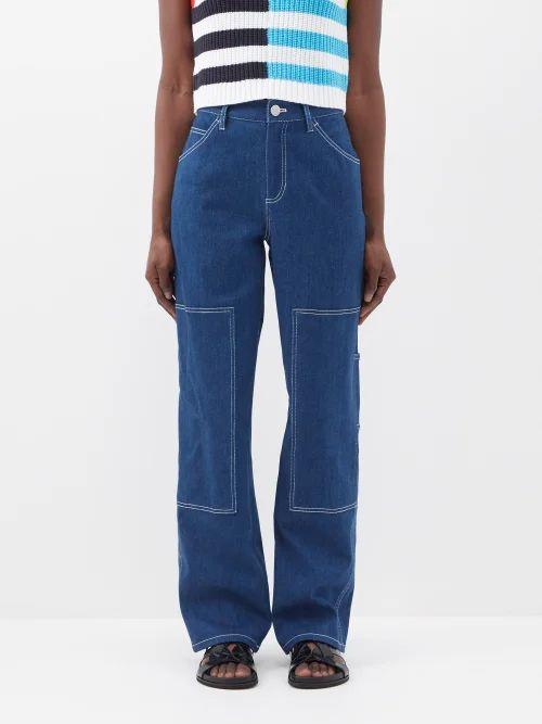 Summa - Reversible Checked Cotton Blend Coat - Womens - Cream Multi