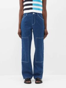 Summa - Reversible Checked Cotton Blend Coat - Womens - Cream Multi