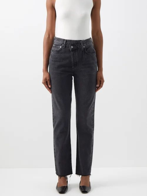 M.i.h Jeans - Ava Pick Stitch Bow Cotton Top - Womens - Navy