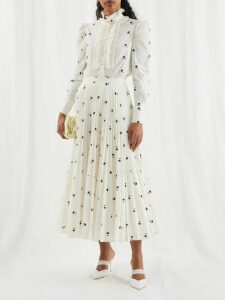 Jil Sander - Glyn Pleated Poplin Skirt - Womens - Light Brown