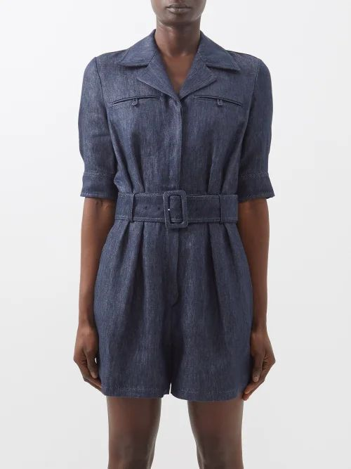 Biyan - Runette Floral Embroidered Tulle Lamé Coat - Womens - Black Multi