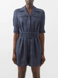 Biyan - Runette Floral-embroidered Tulle Lamé Coat - Womens - Black Multi