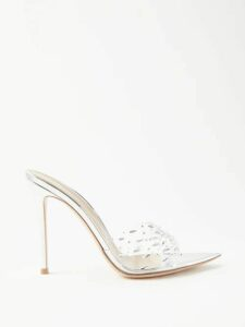 Galvan - Yasmin Ruched Silk Satin Dress - Womens - Light Pink