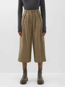 Barrie - Asymmetric Side Slit Cashmere Midi Dress - Womens - Navy