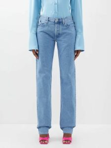 Emilia Wickstead - Iona Cotton Blend Cloqué Maxi Dress - Womens - Light Blue