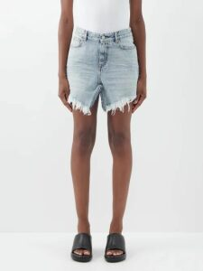 Jw Anderson - Rope Embroidered Beaded Handkerchief Dress - Womens - Light Pink