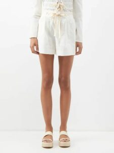 Johanna Ortiz - In Search Of Time Polka Dot Jacquard Satin Gown - Womens - Red