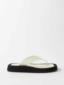 Vita Kin - Maidens In The Meadow Linen Voile Midi Dress - Womens - Yellow Multi