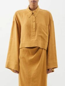 Giuliva Heritage Collection - The Dorothea Double Breasted Wool Blazer - Womens - Navy