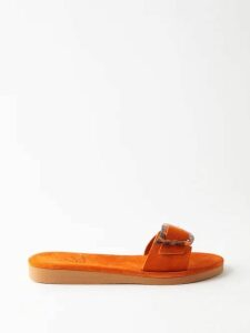 Beulah - Shilpa Floral Print Silk Dress - Womens - Red Multi