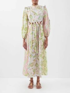 Chopova Lowena - Pleated Wool Blend Skirt - Womens - Black Multi