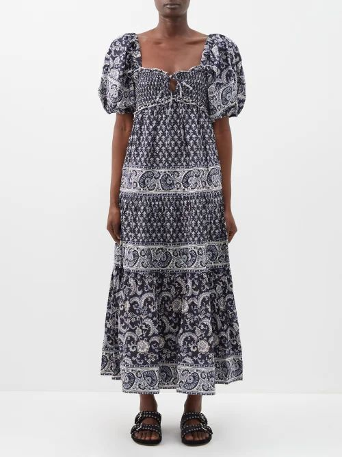 The Row - Jaston Bonded Leather Pencil Skirt - Womens - Navy