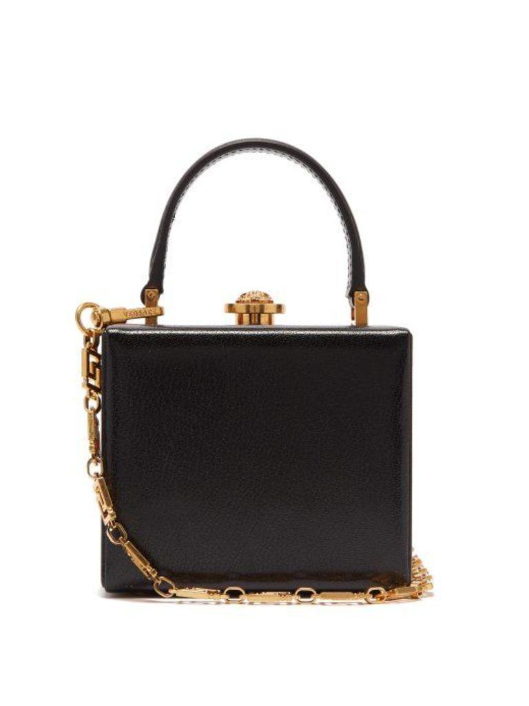 Versace - Medusa Clasp Leather Box Bag - Womens - Black