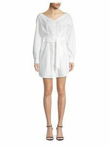 Belted Cotton Shirtdress