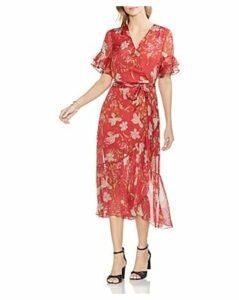 Vince Camuto Wildflower Faux-Wrap Dress