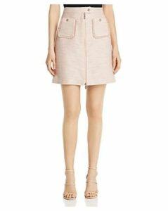 Karl Lagerfeld Paris Tweed Zip-Front Skirt