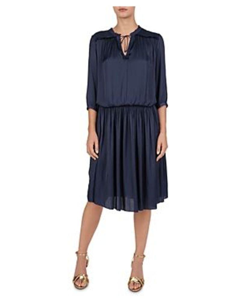 Gerard Darel Gerry Shirred Midi Dress