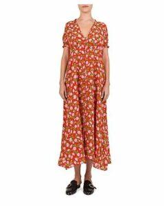 The Kooples Summer Floral-Print Silk Maxi Dress