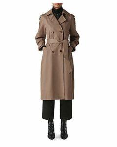 Whistles Imra Balloon-Sleeve Trench Coat