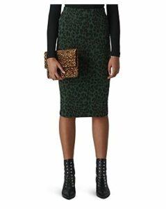 Whistles Leopard Jacquard Tube Skirt