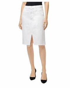 J Brand Trystan Denim Pencil Skirt in White