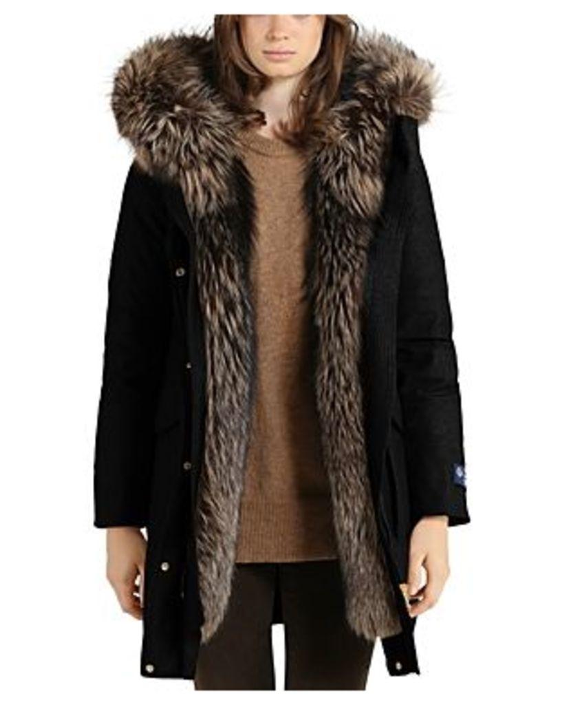 Woolrich John Rich & Bros Loro Piana Military Fox Fur Trim Parka