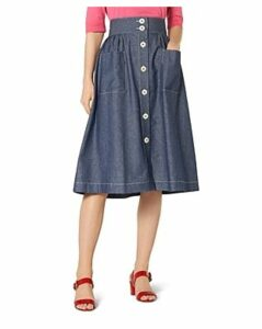 L.k.Bennett Annelin Denim Midi Skirt