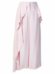 Alexander McQueen peplum drape cullotes - Pink