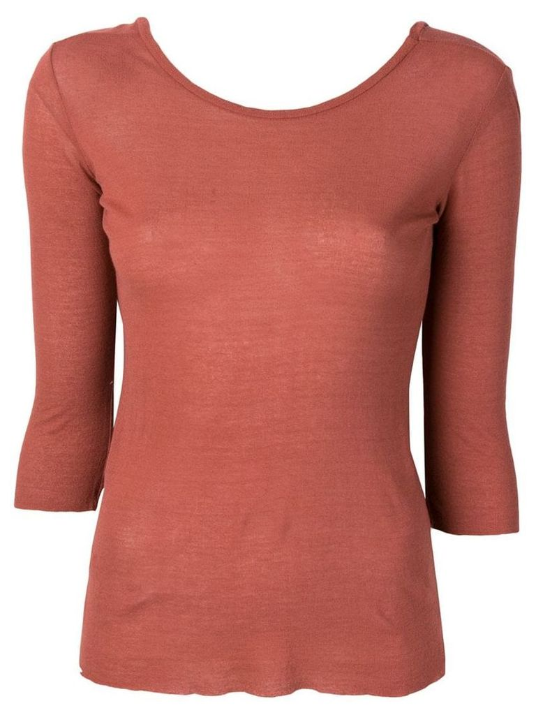 Transit classic fitted top - Brown