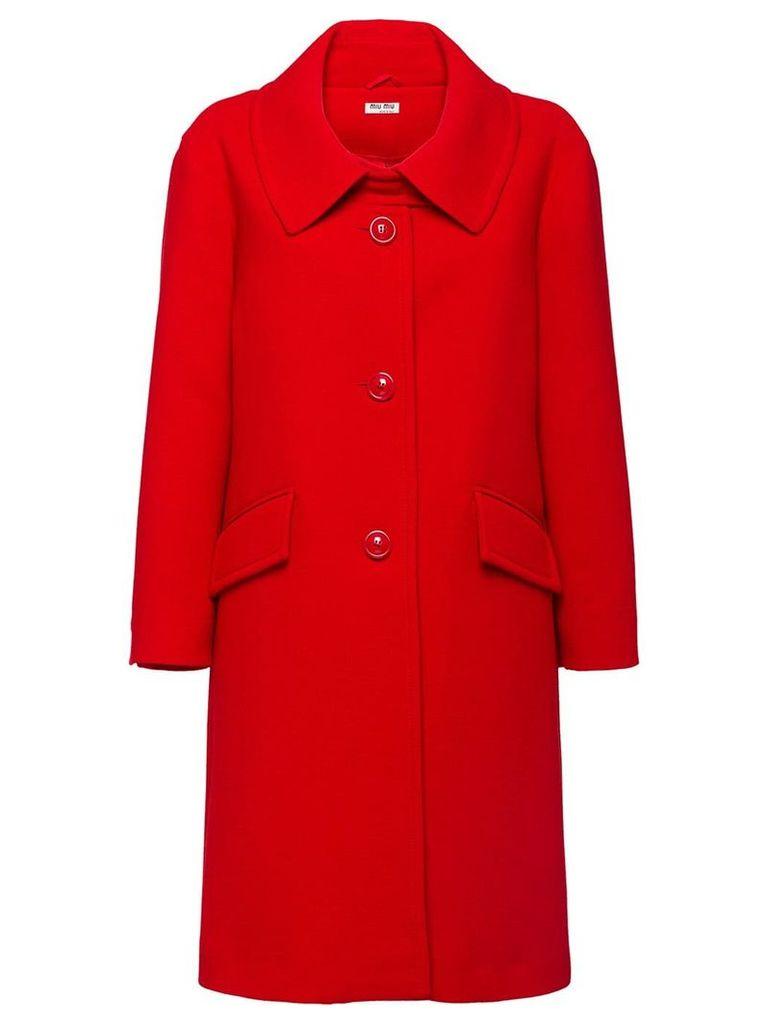 Miu Miu crepe coat - Red