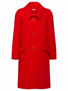 Miu Miu crepe coat - Red