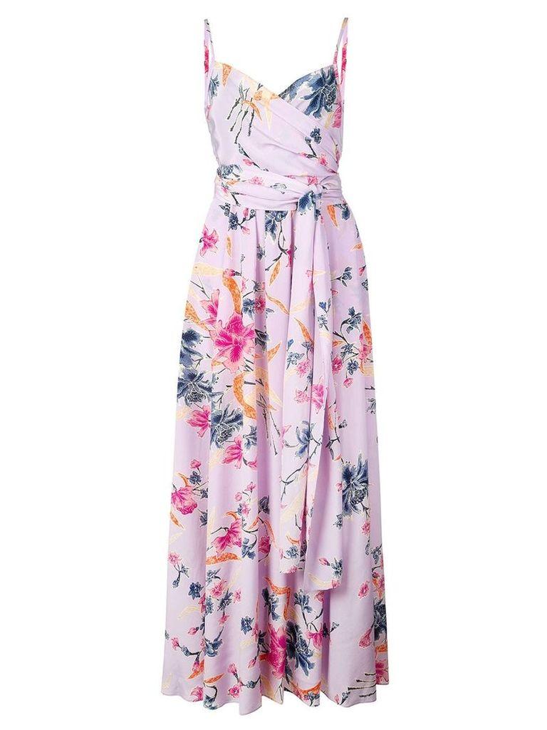 Dvf Diane Von Furstenberg floral print maxi dress - Purple