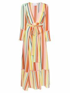 We Are Leone Desert contrast stripe dress - Yellow