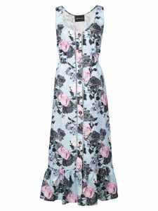Nicholas front button Garden dress - Blue