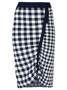 Jonathan Simkhai gingham asymmetric pencil skirt - Black