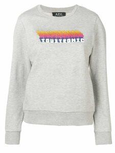 A.P.C. Touitronic sweatshirt - Grey