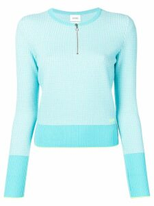 Barrie waffle-knit fitted sweater - Blue