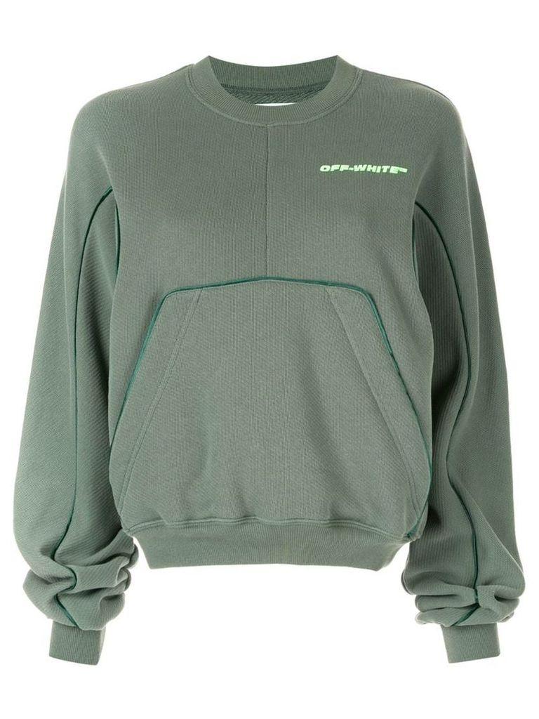 Off-White oversized pocket sweatshirt - Green