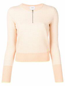 Barrie waffle-knit sweater - Orange