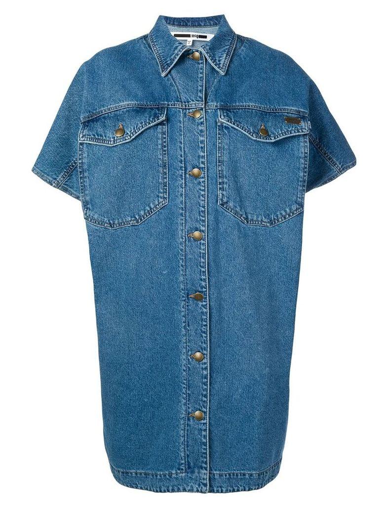 McQ Alexander McQueen denim shirt dress - Blue