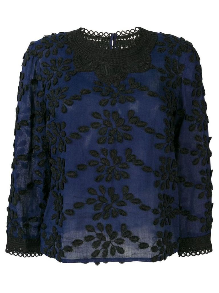 Vanessa Bruno floral embroidery blouse - Blue