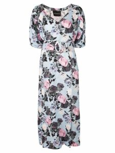 Nicholas floral kaftan dress - Blue
