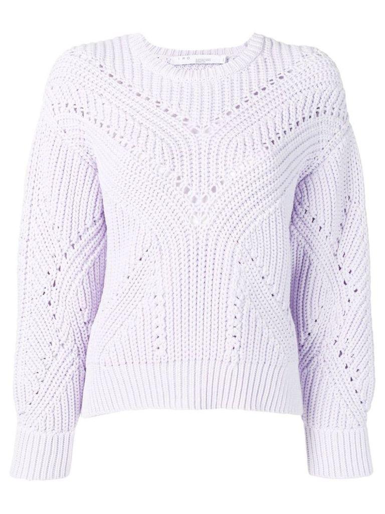 Iro chunky knit sweater - Purple