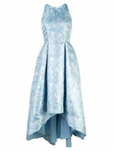 Aidan Mattox floral print full skirt dress - Blue