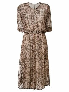 L'Autre Chose leopard print dress - Brown