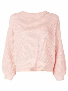 I Love Mr Mittens waffle knitted jumper - Pink