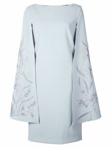 Alberto Makali embroidered wing sleeve dress - Blue