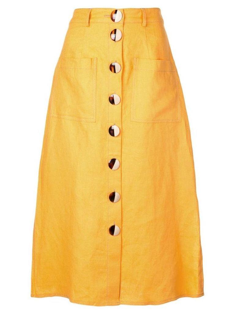 Nicholas front button skirt - Orange