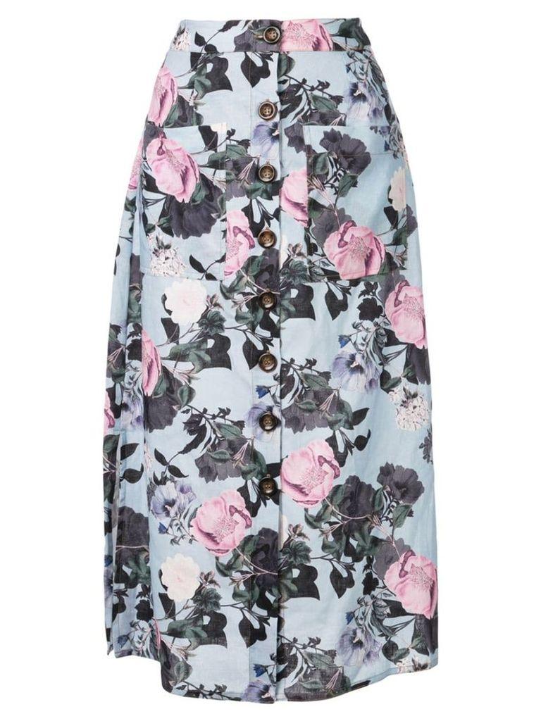 Nicholas front button skirt - Blue